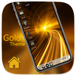Golden Theme For Computer Launcher