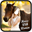 Horse With Women Suit